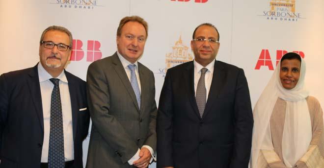 Sorbonne Université Abu Dhabi et ABB signent un accord de coopération