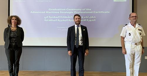 la première cérémonie de diplomation des officiers du Certificat Professionnel en Études stratégiques maritimes avancées