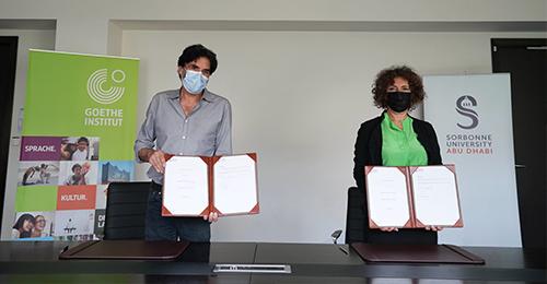 تجديد اتفاقية التعاون مع معهد جوته